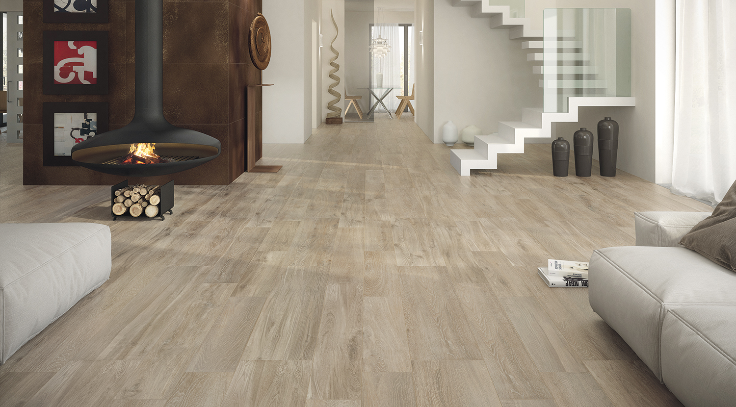 Wood Effect Tiles Ct Almond